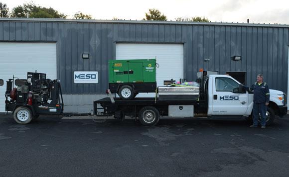 Fleet Maintenance Technician with Vehicle