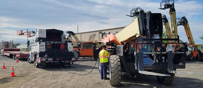 MESO fleet technician provides preventive maintenance and repair services for heavy machinery and construction equipment.